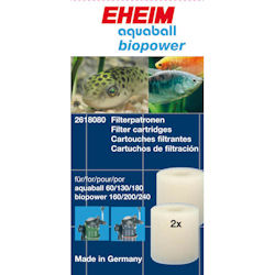 Eheim Filter Cartridge Aquaball 60-180 / Biopower 160-240 x 2