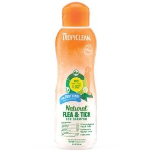 Tropiclean Natural Flea and Tick Shampoo plus Soothing 355ml